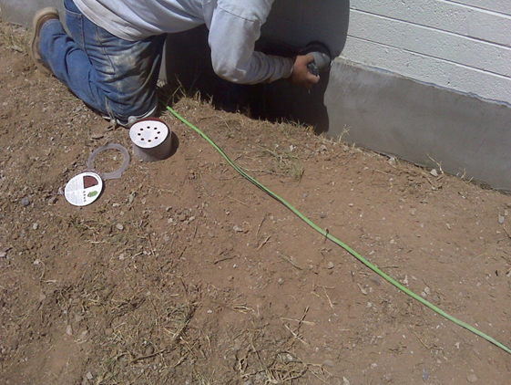 Completely Repaired Foundation Concrete on the Arizona Home