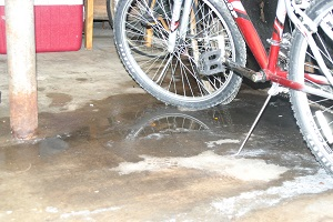 wet garage floor